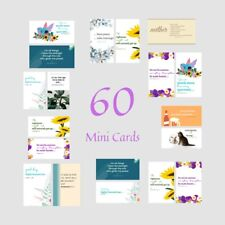 CloveDove 60 Assorted Bible Verse / Inspirational / Encouragement Mini Cards