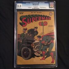 Superman #46 (May-Jun 1947, DC) CGC 3.5 1st Mention Of Superboy!