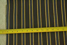"By-the-Half-Yard, 42"" Wide, Navy & Gold on Black Lighter-Weight Cotton, D703"