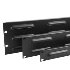 """1U Placa de supresión de cubierta 19"""" para Montaje en Rack/panel-acero revestidos con polvo negro"""