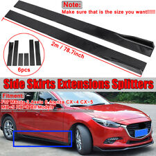 For Mazda 3 Axela 6 Atenza CX-4 CX-5 MX-5 RX-8 Side Skirts Extension Splitters