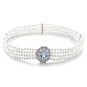 Ladies Pearl Waist Belt Chain Charm Diamante Rhinestone Buckle For Party Dress