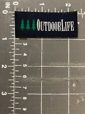 Outdoor Life Company Logo Brand Patch Tag Outdoor Clothing Apparel Magazine Camp