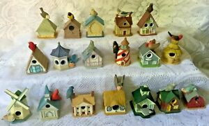 18 LENOX Miniature BIRDHOUSE THIMBLE Collection Birds Lighthouse Windmill Church