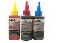 3x100ml Refill ink kit for Canon PG-245 CL-246 PIXMA MG2420 MG2520 MG2920 MG2922