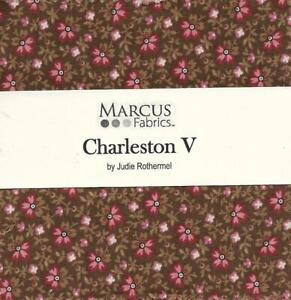 """Patchwork/Quilting Fabric CHARLESTON V by Judie Rothermel 5"""" Charm Square Pack"""