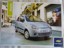 CHEVROLET MATIZ BROCHURE 2006 ANNO del modello del mercato nel Regno Unito