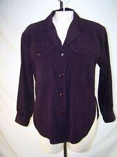 Erin London Petite purple Valour shirt top Long sleeve button front small