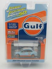 2019 Johnny Lightning *GULF* 2004 Mitsubishi Lancer Evolution  *NIP*