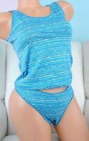 Thong Sissy Striped COlors Panties Knickers with Camisole Nightie cotton set M L