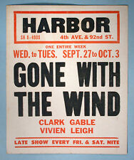 Gone With The Wind Original Mini Movie Window Card Early Rerelease Reissue