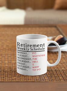 Retirement mug Gift coffee tea funny