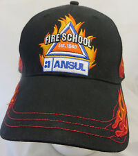 Fire School Ansul est 1940  baseball cap hat adjustable v