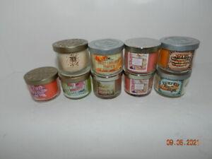 Lot of 9 Slatkin / Bath Body Works  1.3 oz Mini Candles all NEW