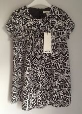 Mexx Black and White Abstract Print Girls Dress Size 3-4 Years 104cm BNWT