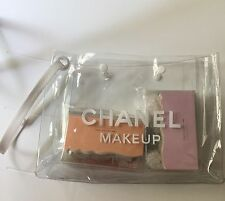 NIP USA Chanel VIP BEAUTE makeup white Clear Transparent cosmetic tote bag  PVC
