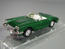 R&L Diecast: Vitesse Chevrolet Chevy Corvette, Green, Cased, Decals not Fitted