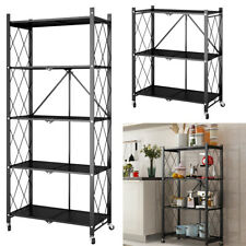 Metal Shelving Unit Storage Racking Display Organiser Rack Kitchen Corner Shelf