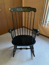 Ethan Allen Black Gloucester Rocking Chair, Stenciled *Reduced*