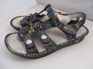 NEW Alegria Kleo KLE-493 Multi-Color Slingback Leather Sandals Size 42 / 11.5-12