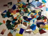 #1026 Scrap Glass 5+# pound Has Iridescent SHIPS FREE PICS R GLASS U GET