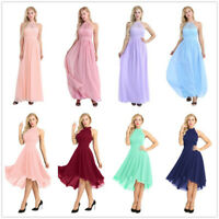 Women's Halter Lace Long Formal Evening Party Dresses Cocktail Ball Prom Gowns