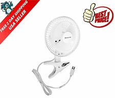 NEW Clip On Mini Electric Cooling Fan Portable Small Table Desk 6 Inch SHIPS