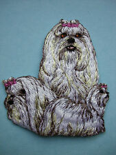 IRON-ON EMBROIDERED PATCH - MALTESE TERRIER - DOG