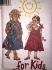 6297 NEW LOOK Kids Pattern Dress Pinafore 3 - 8 UNCUT