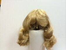 Doll wig wavy blonde for head size 12-13 inch