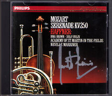Sir Neville Marriner SIGNED Mozart Haffner Serenade k.250 March k.249 CD PHILIPS