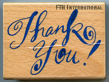 """Thank You ~ All Night Media Wood Mount Rubber Stamp #261H, Text, 3"""" x 2.25"""""""