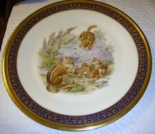 Lenox 1976 Eastern Chipmunks by Boehm Woodland Wildlife Colector Plate Mib