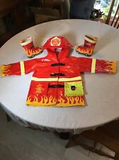 Adorable Childs Fireman Hooded Raincoat by Kidorable