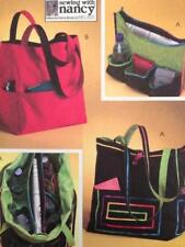 McCalls Sewing Pattern 4851 Two Lined Bags Handbags Uncut Fashion Accessories