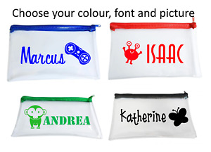 Custom Personalised Clear Exam Pencil Case With Name and Picture Back to School