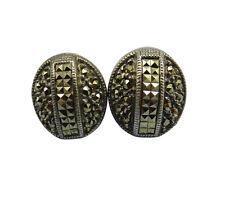 Judith Jack Sterling Silver Pierced Earrings Marcasite Designer Jewelry 55gg
