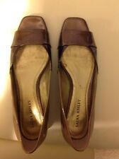 Laura Ashley STYX Bronze Dress Shoes Women's Size 10M Opened Square Toe Sandals