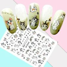 Nail Art Stickers Transfers 3D Self Adhesive Cute Cats (XF3065)