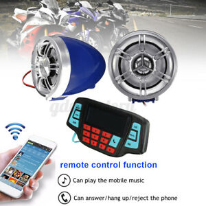 Motorcycle bluetooth Handlebar Audio System USB SD FM Radio Stereo & LCD Screen