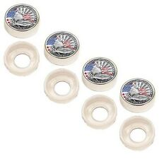 4 Chrome Custom License Plate Frame Screw Snap Caps Covers Remember 911 Eagle