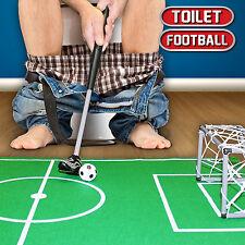 MINI BAGNO TOILET umorismo FOOTBALL GOAL Net uomo divertente adulti novità regalo giocattolo