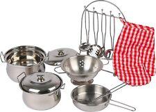 Kochgeschirr Set 13-teilig Metall  Spielküche Puppenkinder