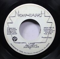 Hear! Garage Psych Rare 45 Justin Tyler - Land / The Country Choice On New Earth