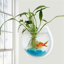 Wall Fish Tank Mounted Transparent Hanging  Acrylic Bowl Bubble Aquarium