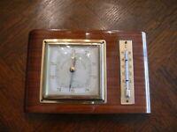 rarität über 70 Jahre alter Barometer mit Thermometer massiv Holz Fa. Lufft 421