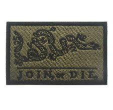 JOIN OR DIE ARMY MORALE BADGE Tactical Embroidered HOOK Loop PATCH  AA 1168