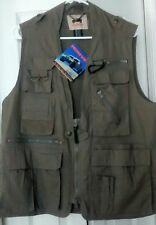 NWT HUMVEE  ORIG Safari Photo Fishing Olive Khaki Vest MENS SMALL WOMENS LARGE