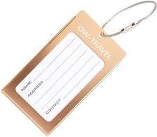 ✅ titular de la tarjeta de negocios de etiqueta de equipaje para Maletas Mochilas-Travel Gift Champaña