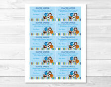 Sports Football Baseball Soccer Printable Baby Shower Diaper Raffle Tickets
